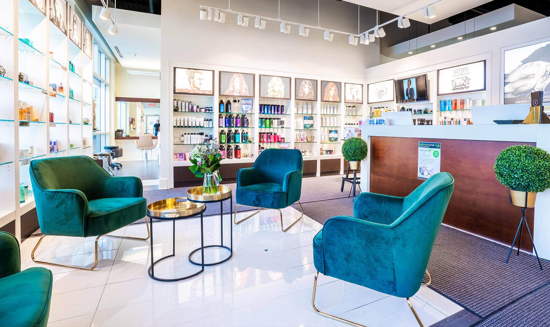 Salle d'attente | Boutique | Produits pour les cheveux