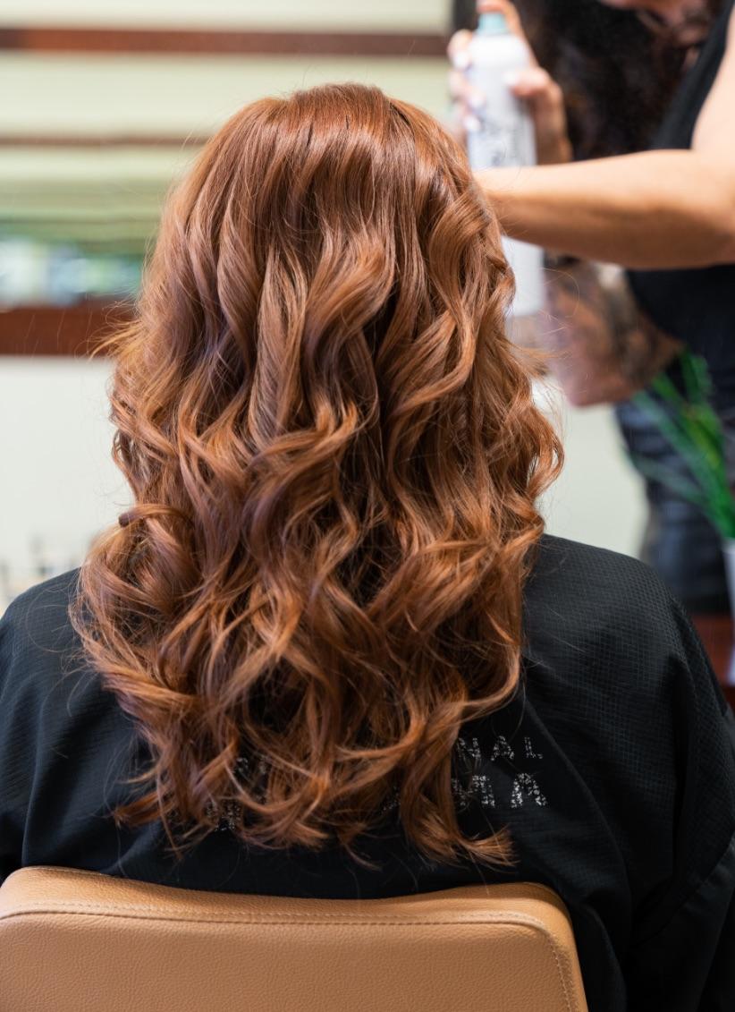 Red head   Hair waving   Latest hair trend   Hair dresser
